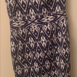 Banana republic Ikat strapless dress size 0p